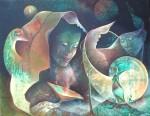 Moon light dream - 24X30 - Acrylic on canvas